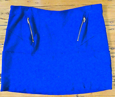 Country Road blue stretch wool mini skirt size 14 - 16 (XL) (US 10 - 12)