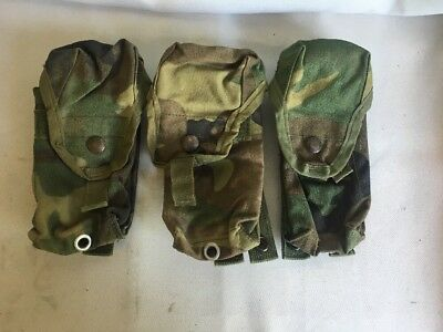 Lot Of 3 Molle Pouches Magazine Single 30 Rounds Nsn 845-01-465-2079