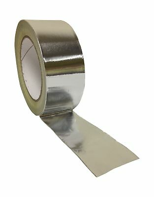 No1 Packaging 190288 1 Roll 48mm x 45m Aluminum Foil Insulation Bright Silver...