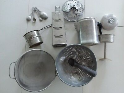 Vintage Lot of Metal Kitchen Tools Gadgets Utensils Aluminum and Stainless Steel