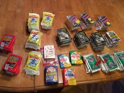Huge Wholesale Lot 1700+ Unopened Old Vintage Baseball Cards in 148+  Wax  Packs