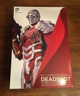 DC Comic Icons Deadshot Statue!  Awesome Piece Of Art! 1st Edition! ⭐️⭐️⭐️