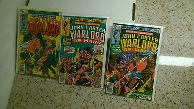 LOT: John Carter, Warlord of Mars - #5,6,7 - 1977 (High grade -see notes)