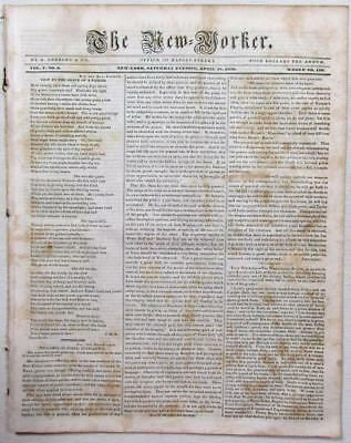 """1838 ALABAMA - Montgomery Co. Fight to the Death – """"Mooney War"""" – New-Yorker"""
