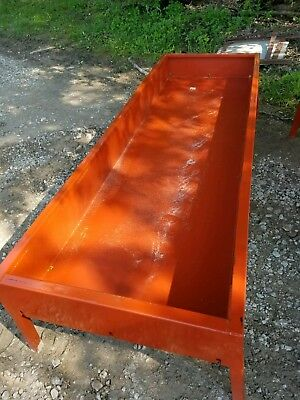 NEW! Heavy Duty Painted Feed Bunk With Square Ends All Steel