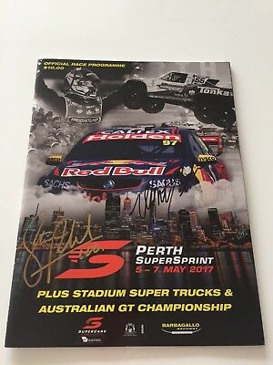 V8 Supercars Program Perth Challenge 2017 Signed By All Drivers !!!!!!