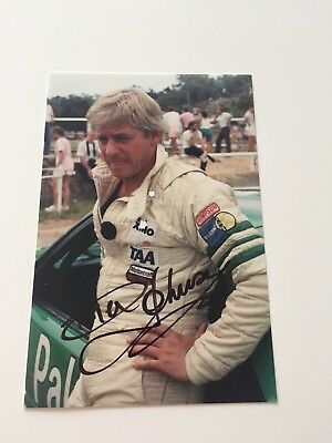 Dick Johnson Signed Photo Palmer Mustang In The Pits At Amaroo Park 1986