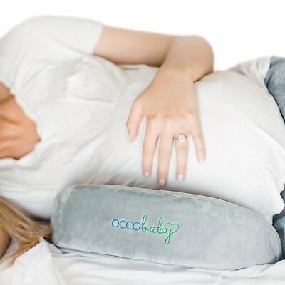 OCCObaby Pregnancy Pillow Wedge | Memory Foam Maternity Pillow for Body, Belly,