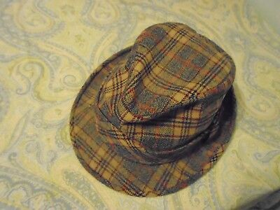 846c2d7e9b6dc VINTAGE PENDLETON PLAID Fedora 100% Pure Virgin Wool Portland OR 7 1 ...