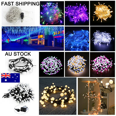 72 250 400 500 LED Fairy Christmas String Strip Lights Wedding Party Outdoor DIY