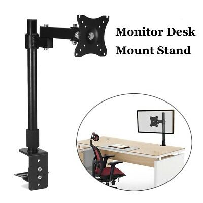 Display Bracket LCD Screen TV Holder Single HD LED Desk Mount Monitor Arm Stand