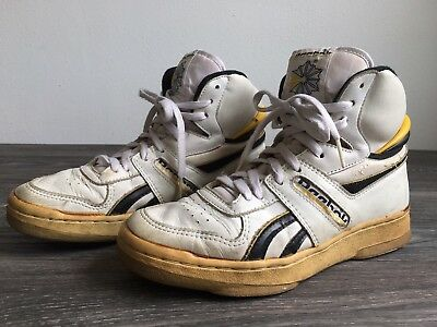 REEBOK HIGH TOPS Shoes Sneakers Vtg 80 s Classic Basketball White US Men s  7.5 cf5ae86d4