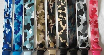 CAMO / Dummy Clip / Key Chain  / Pacifier Clips
