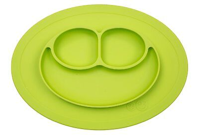 ezpz Mini Mat - One-piece silicone placemat + plate Lime, One Size