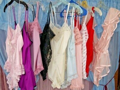 Lot of 10 Vintage Negligee Lingerie Teddies Nighties Some Have Flaws