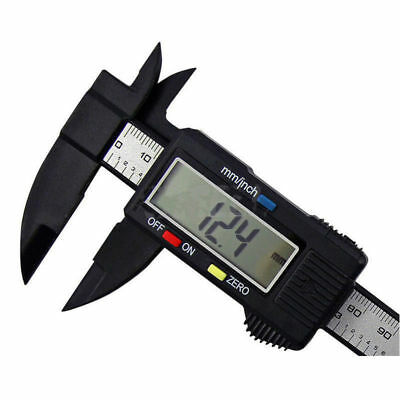 150mm 6''Carbon Fiber LCD Digital Electronic Vernier Caliper Gauge Micrometer TM
