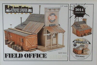 "On3 On30 O CRAFTSMAN STONEY CREEK DESIGNS"" FIELD OFFICE KIT #034 "" NEW"