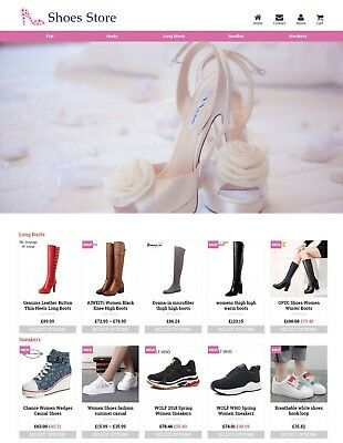 Established Shoes STORE Profitable Website Business For Sale - Dropshiping