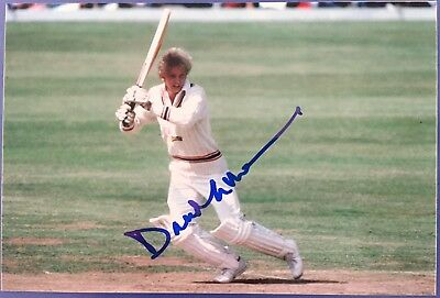 England Cricket Legend and former Captain David Gower Signed Photo