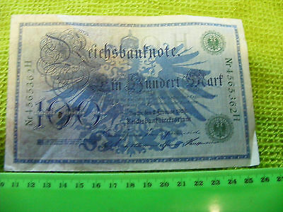 Huge German 100-Mark Banknote,nice condition, from 1908.