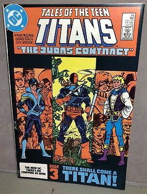 1st NIGHTWING DEATHSTROKE Vintage DC TEEN TITANS Comic Book 44 JULY 1984 Perez