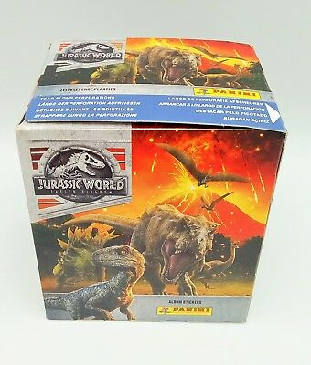 PANINI JURASSIC WORLD IL REGNO DISTRUTTO BOX 50 bustine figurine DISPLAY STICKER