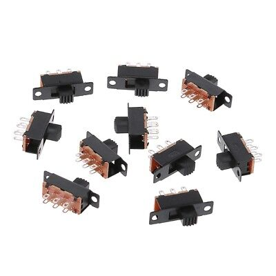 10Pcs SS22F32 6 Pins 2 Positions DPDT On/On Mini Slide Switch 0.5A Toggle Switch