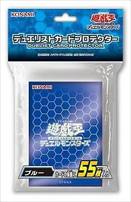 Yugioh Official Card Sleeve Protector : blue / 55pcs japan