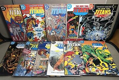 Vintage 1980s THE NEW TEEN TITANS Comic Book Job Lot X 20 Night Wong Cyborg VG