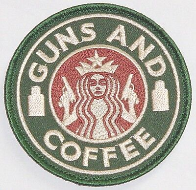 Patch Aufnäher Luftwaffe Guns and Coffe ..........A4811K