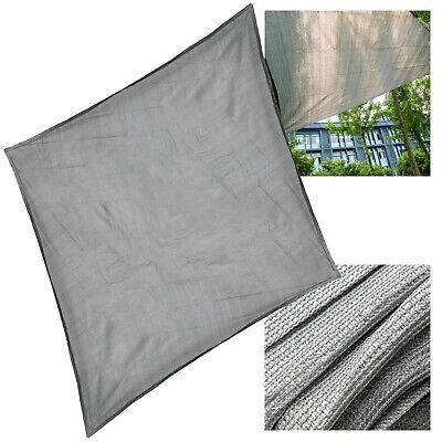 Toile solaire Voile ombrage Protection UV Respirant PEHD Gris 3x3x3m Carré