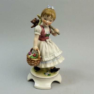 Lovely Goebel Pottery Figure Off To Market By Lore C.1968