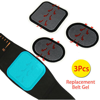 AU 3Pcs Replacement Pad Abdominal Muscle Training Trainer Fitness Belt Gel Sheet