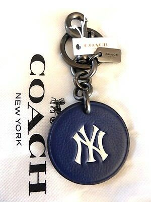 Genuine COACH NY New York Yankees Leather Keyring MLB Baseball Official New