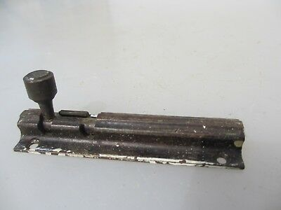 "Vintage Brass Door Lock Bolt Bathroom Lock WC Toilet Old Antique 1929 Deco 3.5""L"