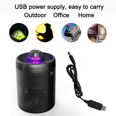 USB Electric Mosquito Fly Bug Insect Trap LED Night Lamp Killer Zapper Inhaled