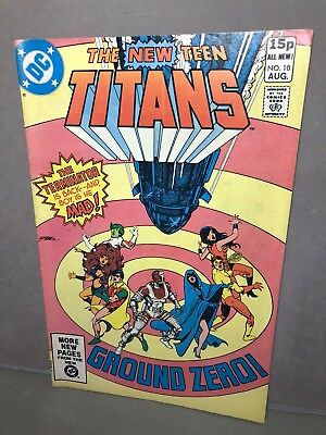 VG DC 2nd DEATHSTROKE TEEN TITANS Issue 10 Comic Book 1981 Vintage 1980s Perez