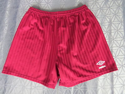 Red Umbro soccer football shorts mid 1990ies model size 38″
