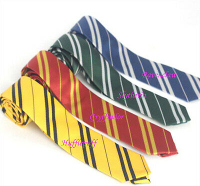 Harry Potter Gryffindor Hufflepuff Slytherin Ravenclaw cosplay striped tie