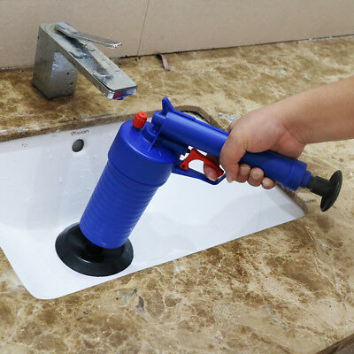 High Pressure Air Drain Blaster Pump Plunger Sink Pipe Clog Remover