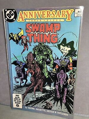 Vintage 1986 SWAMP THING ANNIVERSARY Issue 50 1st JUSTICE LEAGUE DARK DC Comic