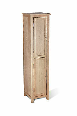 Riga Solid Oak Tall 2 Door Storage Cabinet for Bathroom / Modern Cabinet / Unit