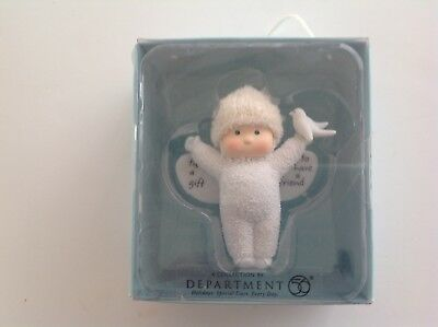 "Department 56 Angel Gifts ""'Tis A Gift To Have A Friend"" NIB"