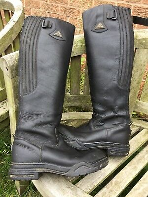 Ladies Leather Mountain Horse Boots Size 5.5