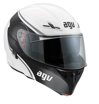 Adjustable helmet AGV Compact Size XS 53/54 colour black and white bright New