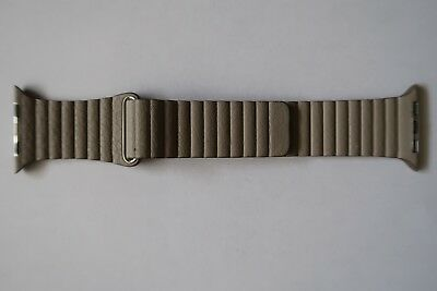 Original Apple Watch series 3 2 1 Leather Loop Band 42mm Stone Medium L Magnetic
