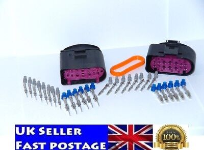 Set Plug Connector xenon headlight AUDI VW SKODA SEAT 14pin 1J0973837 1J0973737