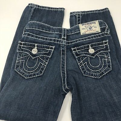 True Religion Straight Big T Jeans size 8 Youth Kids boys New never worn, nice!