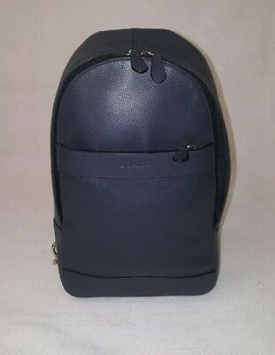 976e93a2aa56 AUTHENTIC COACH CHARLES Backpack Sling Bag Solid Midnight Navy Leather  F54770 -  175.00