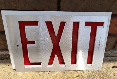 Vintage Exit Sign Mountable With Metal Face Cool Man Cave Idea!